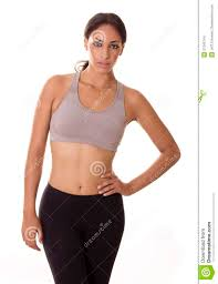 african american woman in workout clothes stock images image