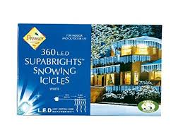 cool white icicle lights 8 8m premier 360 led outdoor snowing icicle christmas lights cool