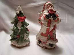 ceramic christmas tree with lights cracker barrel salt pepper shakers