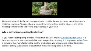 choosing landscape boulders and garden rocks for your yard
