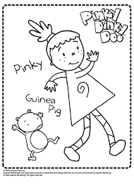 pinky dinky doo coloring pages coloring
