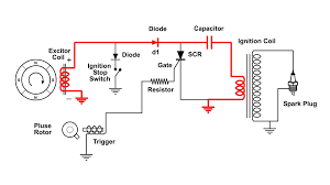discharging capacitor wiring diagram components