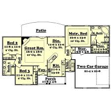 3 Bedroom 2 Bath Bungalow by 1600 Square Foot Bungalow Floor Plans Homes Zone
