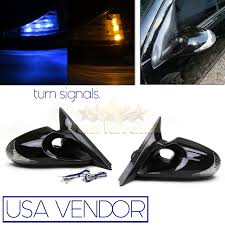 nissan 350z quick release for 03 07 nissan 350z side euro power mirrors yellow blue led turn