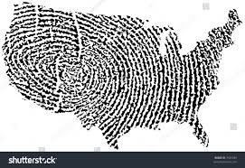 United States Map Black And White by United States Map Fingerprint Stock Vector 7435339 Shutterstock