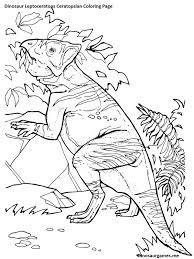 dinosaur leptoceratops ceratopsian coloring page dinosaur