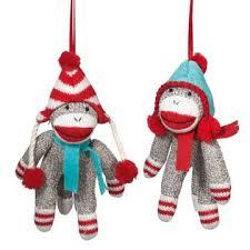 sock monkey company sock monkey in winter hat ornament