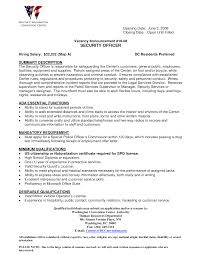 resume entry level objective awesome collection of hospital security officer objective resumes