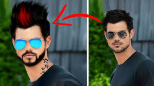 true oil paint effect realistic beard spike hairstyle u003d in one