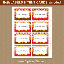 thanksgiving labels printable fall food labels fall place cards digital