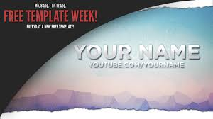 template youtube photoshop cc free template week 1 monday sky youtube channel banner photoshop