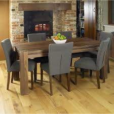 Modern Dining Table And Chairs Set Mayan Walnut Wood Modern Furniture Large Dining Table And Six