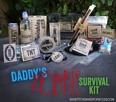 free printable zombie images daddy s zombie survival kit father s day gift and free printable