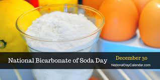 bicarbonate en cuisine national bicarbonate of soda day december 30 national day calendar