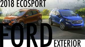 2018 ford ecosport detail exterior youtube
