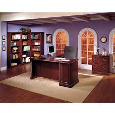 Bush Desk With Hutch by Amazon Com Saratoga Executive Desk In Harvest Cherry And Black