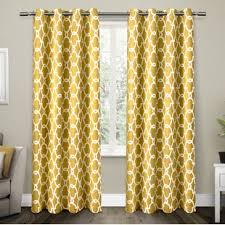 Yellow And Grey Curtain Panels Yellow Gold Curtains Drapes You Ll Wayfair