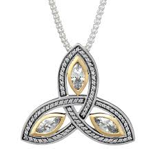 gold zirconia necklace images Keith jack trinity knot cubic zirconia necklace in sterling silver jpg
