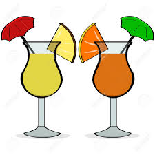 margarita cartoon cartoon illustration showing a pair of fancy drinks with little