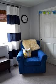 Navy Blue Curtains For Nursery Noah S Navy Blue And White Nursery Nursery Babies And White Nursery