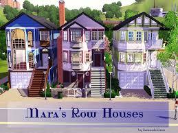 mod the sims mara u0027s row houses