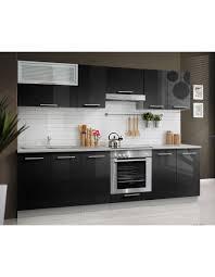 cuisine laqué noir cuisine laquée 2 80 mètre cuisine