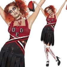 Zombie Cheerleader Costume Zombie Halloween Fancy Dress Costumes U2013 Mens Ladies Walking Dead