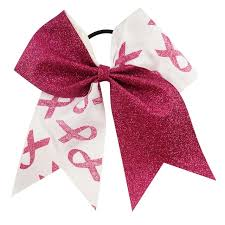 bows for hair 7 large cheer bows breast cancer awareness pinks glitter hair