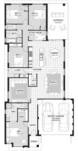 Narrow Lot House Plans With Rear Garage Narrow Lot Single Storey Homes Perth Cottage Home Designs