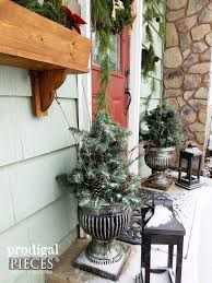 diy winter urn made with repurposed materials prodigal pieces