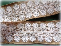 burlap wired ribbon floral lace burlap wired ribbon white 4 inch wide 1