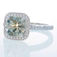 green amethyst engagement ring gorge platinum cushion cut green amethyst diamond engagement by