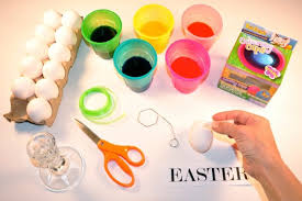Easter Decorations Printouts by Easter Egg Word Decoration
