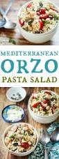 mediterranean orzo pasta salad the wanderlust kitchen