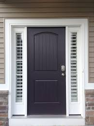 Curtain Ideas For Front Doors by Entry Door With Two Side Lights Shutters Stay Nice And Tight To