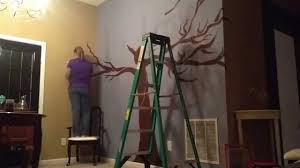 painting the family tree on the wall