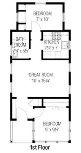 Great Room Floor Plans Single Story The 319 Sq Ft Small House Floor Plan Of The