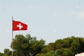 Flag Red With White Cross Swiss Flag Red With White Cross Stock Photo Picture And Royalty