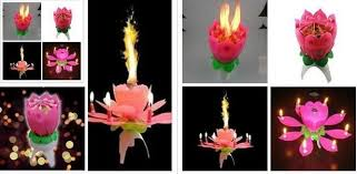 lotus birthday candle best quality new birthday party flower candle new lotus