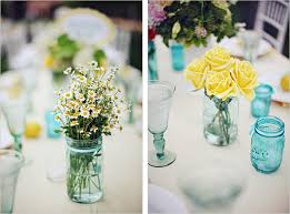 jar wedding centerpieces blue jar wedding centerpieces once wed