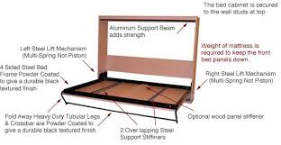 Murphy Bed Frame Kit Diy Horizontal Supreme Steel Frame Mechanism Kits Murphy Bed