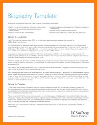 9 biography template word references format