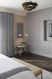 Design Of Cabinets For Bedroom Master Bedroom With Gray Built In Cabinets Contemporary Bedroom