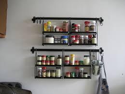 Wall Mounted Spice Rack Ikea Kitchen Beautiful Image Of Black Metal Hanging Wall Spice Rack