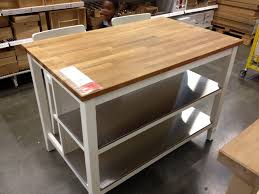 kitchen 2 undershelf kitchen island with butcher block home depot