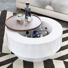 ya ya coffee table with built in hidden bar storage the green head