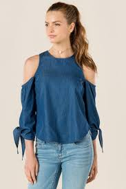 cold shoulder tops solid aerona cold shoulder top s