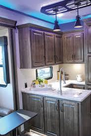 kz kitchen cabinet venom v4012tk luxury fifth wheel toy hauler k z rv