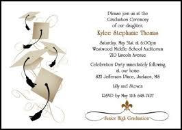formal high school graduation announcements 14 best 8th grade middle school junior high graduation cards