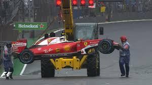formula 4 crash watch kimi raikkonen crashes out at brazilian gp restart f1 news